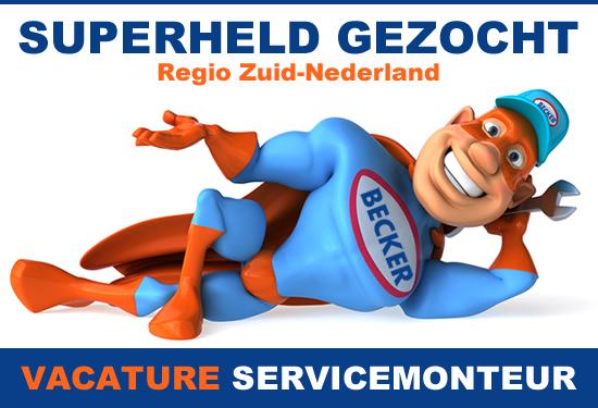 GEZOCHT: SERVICEMONTEUR - ZUID-NEDERLAND