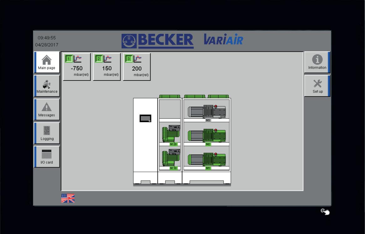Vacon controller scherm BECKER