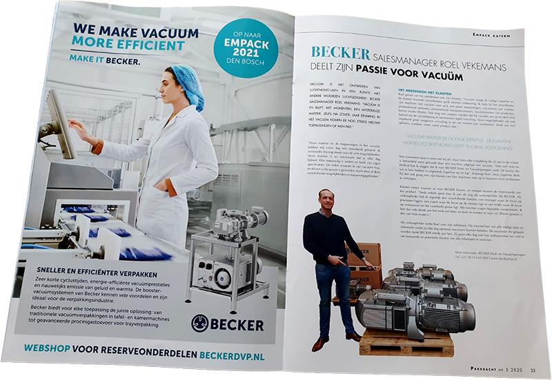 Roel Vekemans - Becker Vacuum Pompen Pakkracht 2020