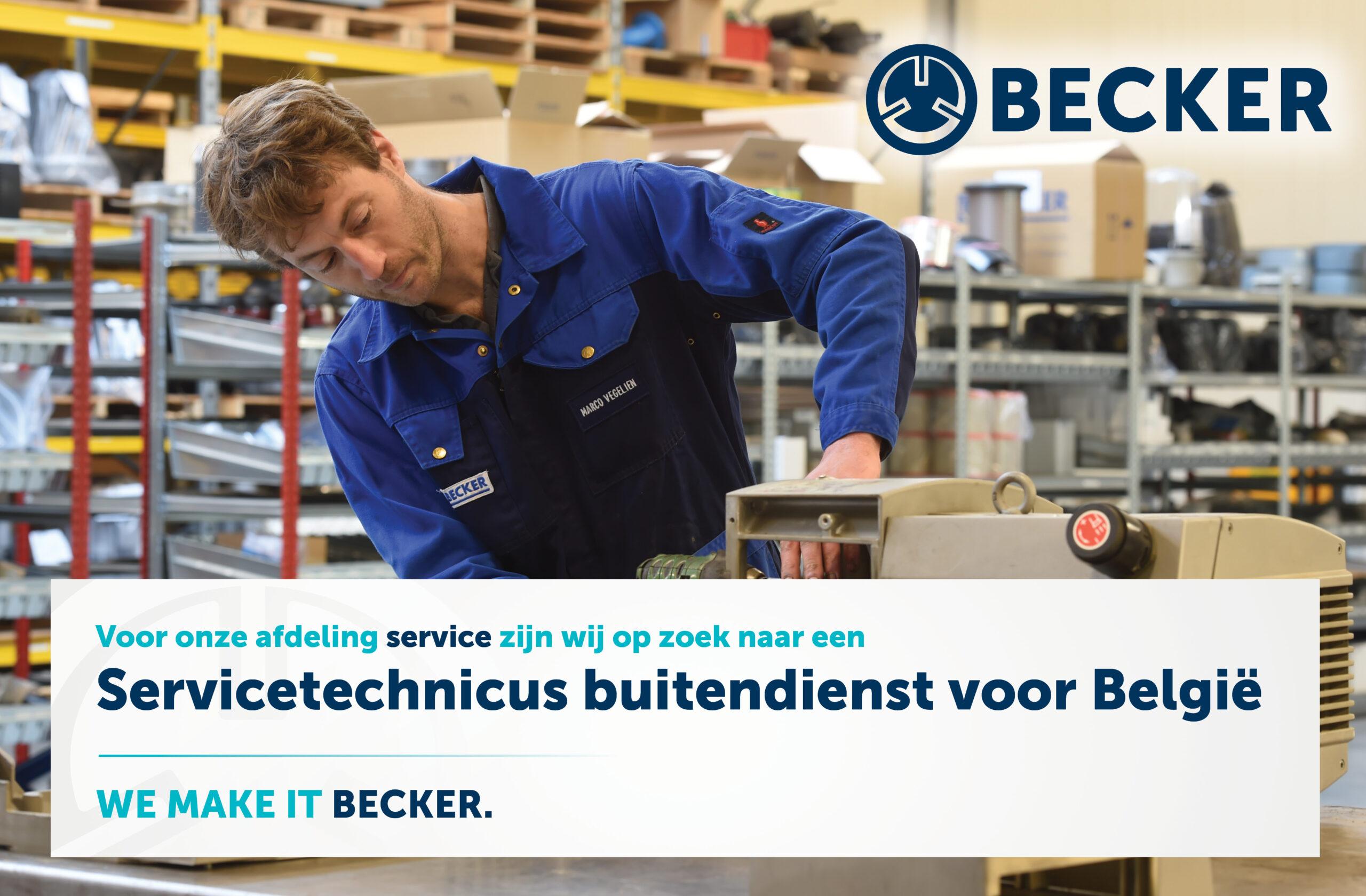 VACATURE: Servicetechnicus buitendienst voor België